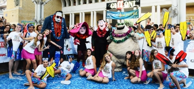 GIFFONI 2018, DRAC AND HIS FRIENDS FROM HOTEL TRANSYLVANIA 3 TURN THE CITADEL INTO A BECH
