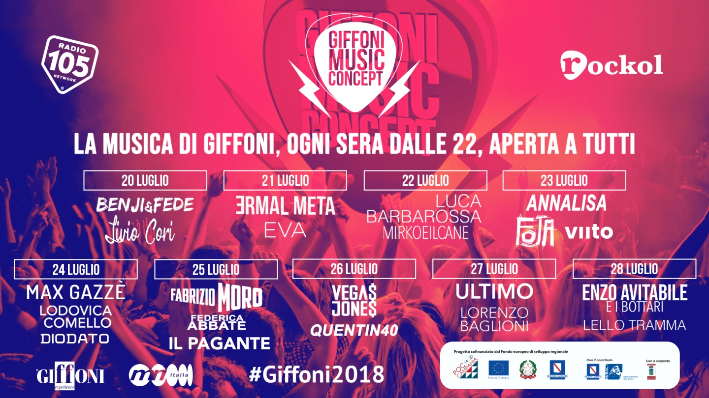 GIFFONI MUSIC CONCEPT: MUCH MUSIC AT THE 48th EDITION OF #GIFFONI2018