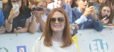 "Julianne Moore amazed by Giffoni: ""I had a wonderful day with the kids"""