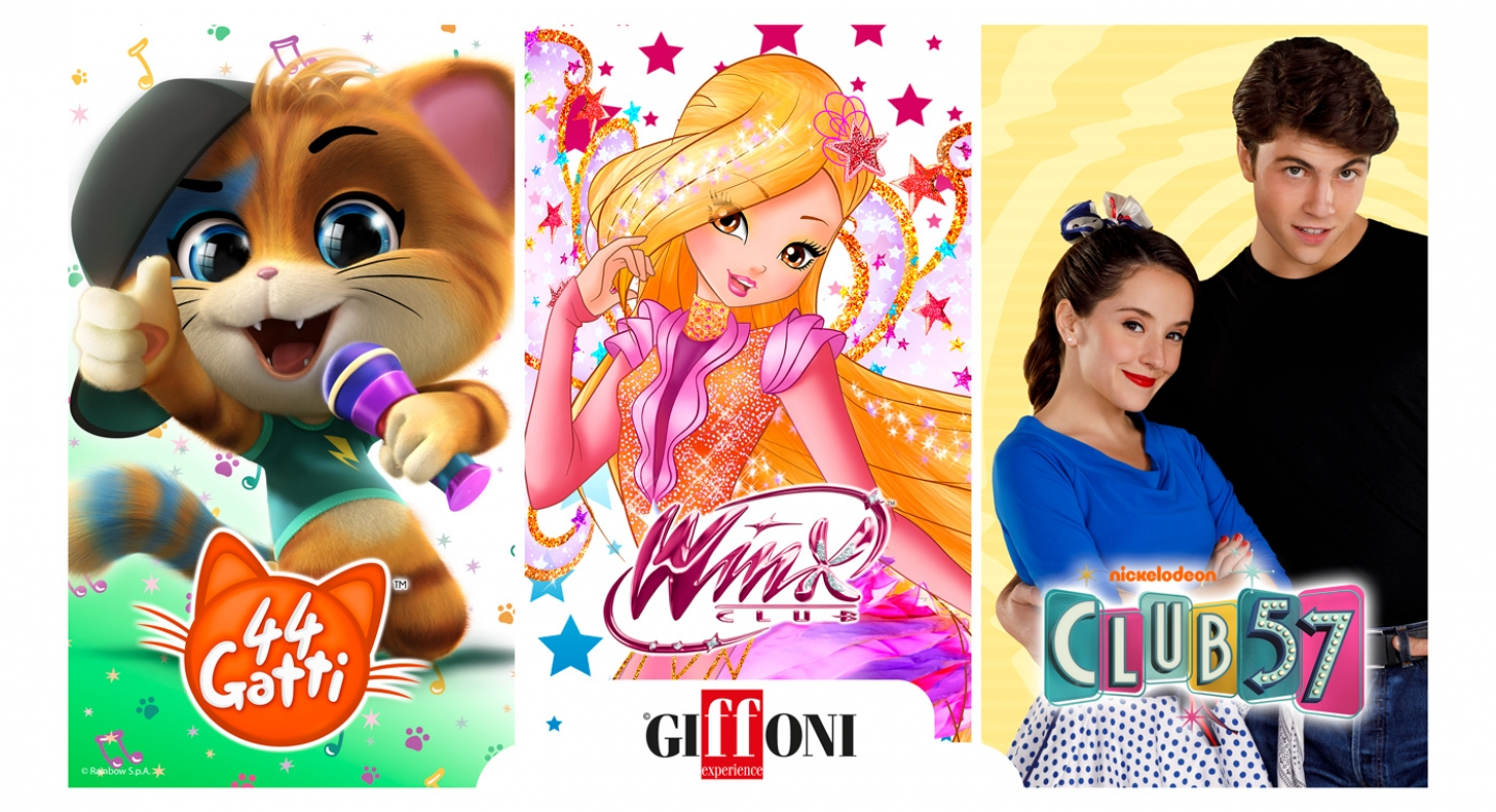Rainbow guest at the Giffoni Film Festival 2019 with 44 Cats, Winx Club, and Club 57