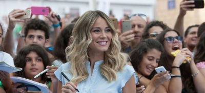 "GIFFONI 2018, DILETTA LEOTTA TO MASTERCLASSERS: ""TV IS MY JOB, I DO IT WITH A SMILE ON MY FACE"""