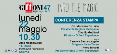 The 47th Giffoni Film Festival, Monday May 22 Director Claudio Gubitosi presents latest news on the 2017 Edition