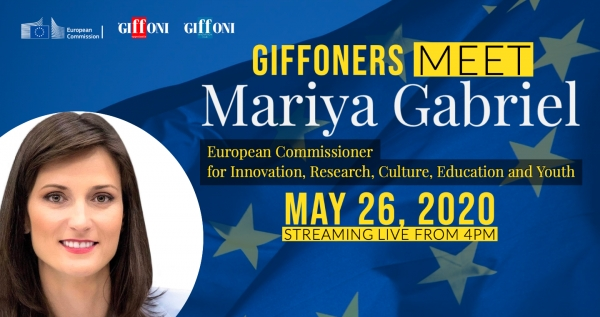 Innovation, culture and creativity: tomorrow 9 giffoners will have the opportunity to talk to the European Commissioner Mariya Gabriel