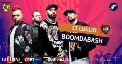 At #Giffoni2019 on July 23rd Boomdabash