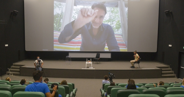 Raoul Bova at #Giffoni50 with the premiere of a video clip from L'ultima gara