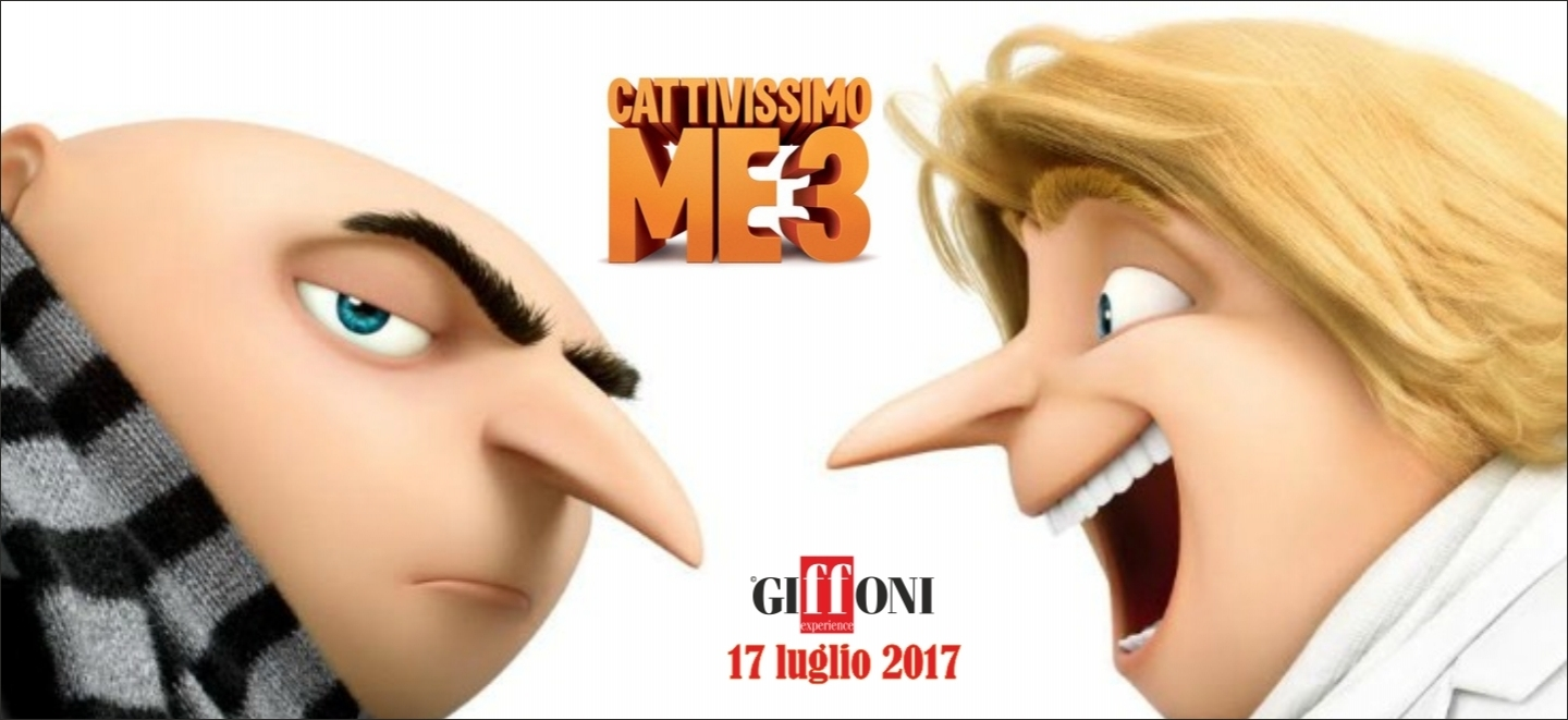 "Gru and the irresistible Minions head back to Giffoni for the Italian premiere ""DESPICABLE ME 3"" on July 17"