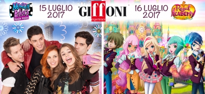 "RAINBOW AL GIFFONI 2017 CON ""MAGGIE AND BIANCA FASHION FRIENDS"", ""REGAL ACADEMY"" E LA MASTERCLASS DI IGINIO STRAFFI"